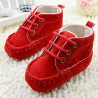 أحذية الأطفال الرضع الحلو الطفل الرباط لينة سرير أحذية القطن الأحمر مشوا الأولى 0-18M