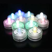 Alta calidad sumergible a prueba de agua LED luces del té vela decoración del banquete de boda floralyte luz como decoración del jardín del hogar
