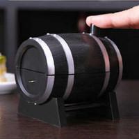 vendita CALDA di vendita Best Wine Barrel Type Automatic Stuzzicadenti Secchio Porta stuzzicadenti Spedizione gratuita CYB39