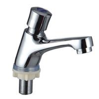 Mitigeur de lavabo en laiton temporisateur à fermeture automatique, robinet d'eau froide pour mitigeur