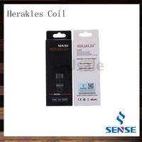 Sense Herakles Atomizer Head Coil Herakles Coils de remplacement de réservoir 0.2ohm 0.6ohm Sous-ohms Réservoir Réservoir Head Vapeur énorme 100% humide