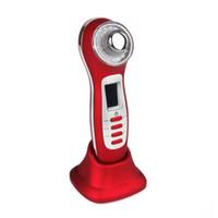 Macchina galvanica principale rossa portatile del fronte dell'attrezzatura di bellezza di cura di pelle di ultrasuono del fotone per rimozione domestica della grinza