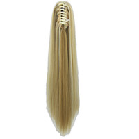 Long Straight Clip In Hair Extensions Piece Blonde Gray Litt...