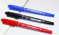 بطل اللوحة أقلام هوك خط القلم للماء colorfast cd علامات القلم 2 رؤساء الزيتية فن الرسم ماركر المنقار 1 ملليمتر 3 ملليمتر إسقاط الشحن