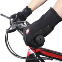 الرياضة في الهواء الطلق المشي لمسافات طويلة الشتاء دراجة دراجة الدراجات قفازات للرجال النساء windstopper مقلد جلدية لينة قفازات دافئة 10NB