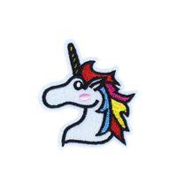 Nakış Sticker üzerinde Çanta Kot DIY diker için Transferi Aplike Patch üzerinde 10 ADET Giyim Demir için Unicorn İşlemeli Yamalar