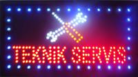 الكلمات الأسبانية مخصصة LED TEKNIK SERVIS إشارات النيون أضواء شبه في الهواء الطلق حجم 48CM * 25CM الشحن المجاني