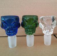 Tazón para fumar 18,8 mm para cráneo de vidrio Tazón para 7 mm de espesor para beber agua Bongs de vidrio Ashcatcher Bongs Glass