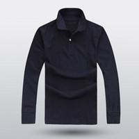 2018 nova moda masculina de algodão de alta qualidade solta dos homens casuais POLO camisa de manga longa plus size camisa de lapela