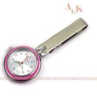 Klassische analoge quarzrosa Krankenschwester FOB-Taschenuhr, die medizinische Uhr des Broschenrevers für Krankenschwester- und Doktorkrankenhausgebrauchssatz pflegt