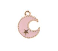 20 stücke Mode Mischfarben Emaille Mond Goldene Charms # 92212- # 92214