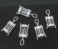 Wholesale- Free Shipping 150pcs Antique Silver Tone wine cork...