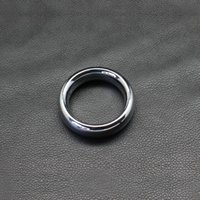 2016 Nuovo Vibratore Cockring Chastity rotonda metallo anello del rubinetto, Lega Pene 45 millimetri / 47 millimetri / 50mm, Delay Time Loop di Uomini, prodotto adulto trasporto libero