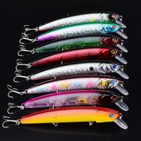 새로운 CRANK 미끼 낚시 미끼 8colors ABS 플라스틱 깊은 다이빙 Wobbler walleye crappie Lure 12.7cm 15.5g 저음 crankbait