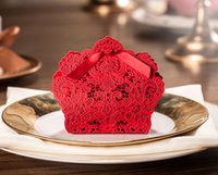 Wedding Favor Boxes Laser Cut Favor Wedding Paper Laser Red ...