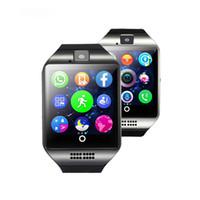 Q18 смарт часы для телефонов android Bluetooth Smartwatch с камерой оригинальный q18 поддержка Tf sim карты слот Bluetooth соединение VS DZ09