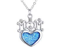 Simple Style Mom Statement Necklace With Glowing Heart Penda...