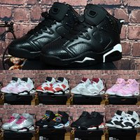 Kids Retro 6 Shoes Children' s Basketball Shoes For Boys...