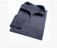 무료 배송 브랜드 고품질의 신형 지퍼 스웨터 캐시미어 스웨터 점퍼 풀오버 겨울 남성용 스웨터 남성용 브랜드 스웨터. # 0125