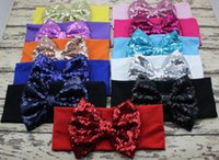 New Big Sequin Bow Headbands for Girl Hair Accessories Fashi...