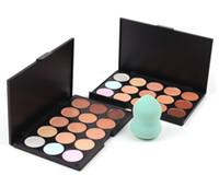 2015 신착 컨실러 팔레트 페이스 파운데이션 15 색 립시 블러쉬 메이크업