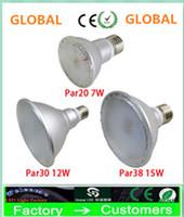 Super Bright Par20 Par30 Par38 IP65 120Degree 7W 12W 15W E27 LED-lampor LED-lampor AC 110-240V + UL + Garanti 3 år