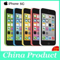 """Оригинал разблокирован iPhone 5c сотовые телефоны 8 ГБ 16 ГБ 32 ГБ dual core WCDMA + WiFi + GPS 8MP камера 4.0 """" мобильный телефон с запечатанной коробке"""