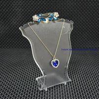 Популярные ювелирные изделия Дисплей Стенд Черный Белый Clear Mini Размер пластик Гриф Бюст ожерелье Стенд серьги держатель Установить подставки стойки