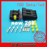 100 set 1.5 Pin connettore auto, spina sensore ossigeno auto, connettore elettrico auto impermeabile per auto ect