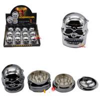 12pcs / lot moulin à tabac style tête de mort fantôme broyeur à métaux broyeur à herbes livraison gratuite pour DHL [SKU: S013]