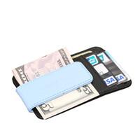 2016 Das Mulheres Dos Homens de Couro De Couro Genuíno Grampo do Dinheiro Carteiras Carteiras Para O Dinheiro Magnético Bill Clip Id Cartões de Crédito Magro Carteira Ml1 -03