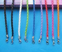 Faux vlecht lederen armband koord, 1.8 inch extender ketting 180mmx3mm (10 kleuren) DIY accessoire sieraden maken