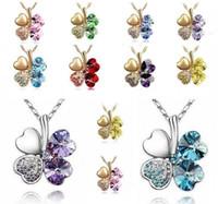 12PCS 925 Sterling Halsketten glückliches vierblättriges Kleeblatt-hängende Halsketten-Liebhaber-Geschenk-Dekorationen 5 Farben Großverkauf