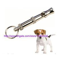 100pcs beaucoup de formation de chien de compagnie réglable outil de formation de son sifflet de chien de sifflet à ultrasons mignonne formation, bateau libre