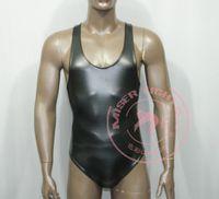 2016 hot bdsm Latex sin mangas Sexy Catsuit disfraces trajes de lencería Club Wear para hombres envío gratis bdsm juguetes sexuales