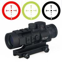 에어 소프트 촬영 사냥 탄도 CQ 십자선과 전술 광학 소총 범위 버리 AR-332 배 프리즘 레드 도트 사이트