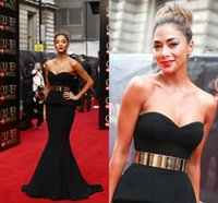 Classic Black Mermaid Celebrity Evening Dresses Red Carpet P...