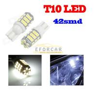 T10 / 921/194 42 SMD 12 V LED Xenon 6000 K Branco LEVOU Luzes Do Carro Lâmpada frete grátis