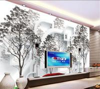 벽지 벽 벽지 3D 공간 나무 숲 벽지 벽화 벽 스티커 벽지 papel de parede20151337