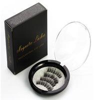 Hree magnética Eye Lashes 3D Reutilizável Ímã Falso Cílios Extensão 3D Extensão Dos Cílios Cílios Magnéticos 4 pçs / set