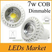 High Power COB Lampa LED 7W Ściemniana GU10 MR16 LED Spot Light Spotlight LED Żarówka Downlight Oświetlenie ciepłe zimne białe AC90-260V lub 12 V Free DHL
