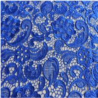 11 couleurs de haute qualité soluble dans l'eau en dentelle brodée Tissu Robe de mariée Voir mince Acrête Largeur Tissu 120cm En Stock