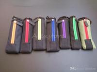 Tragetasche E Cig Carring Tasche Bunte Tuch Box Tasche mit Haken Reißverschluss Halskette Lanyard Halter für Ego Evod x6 Mod