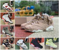 Travis Travis Travis British Khaki 6S Zapatos de baloncesto Sumpman 6 Carmine Infrarrojo Midnight Navy Hare Tech Chrome Eléctrico Gatorade Mens Trainers Sneakers