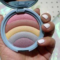 5 Farben Schimmer Highlighter-Palette Contouring Gesicht Kosmetik Gedrücktes Pulver Highlight-Palette Erhellen Haut Schönheit Makeup-Werkzeuge