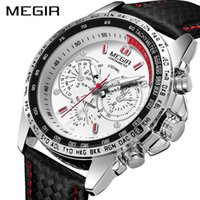 Megir Military Watch Hommes Relogio Masculino Fashion Luminous Army Montres Horloge Heure d'horloge Montre-bracelet Homme Imperméable XFCS 1010 x0524