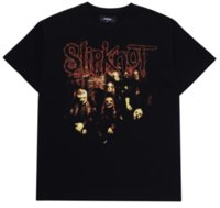 Metal europeo y estadounidense Banda de roca camiseta Slipknot de manga corta Flojo impreso Top Top Transmisor Extranjero High Street Hombres oscuros