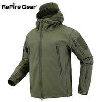 ReFire Gear Camouflage Military Jacket Men Waterproof Soft Shell Tactical Jacket US Army Clothing Winter Fleece Coat Windbreaker A0526