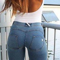 Kadınlar Tam Kalça Sıska Elastik Bel Streç Jeans Moda Seksi Kadın Sonbahar Kış Kalem Pantolon 5 Renkler