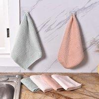 Effiziente Anti-Fett-Farbe Coral Samtschale Tuch Faser Waschhandtuch Magie Küche Reinigung Wischfaser Waschtuch